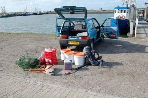 Voorbereidingen voor de tocht (Foto: Wouter Teunissen)