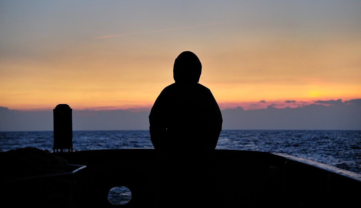 Zonsopkomst op de Noordzee (Foto: Martijn de Jonge)