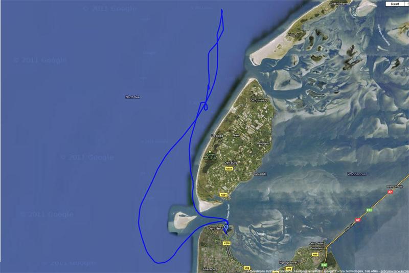 rondvaart noordzee (113 km) door Oscar Balm