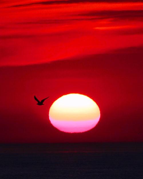 BCE V zonsondergang